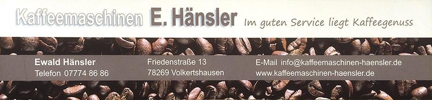 Kaffeemaschinen E. Hänsler